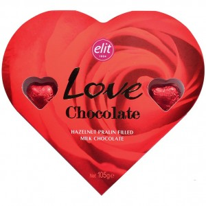 Elit Love Chocolate Kalp Çikolata